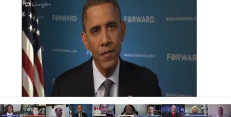2012 October - Google+ Hangout with President Obama