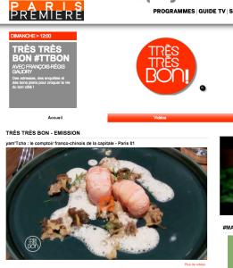 Paris Premiere - French food site