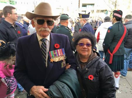 //Nice to meet David again. Mr. David Vidalin went to Hong Kong in 1945 to bring the Canadian Hong Kong Veterans home; it was an unforgetable memories for him.// Photo and text credit: Terry