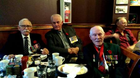 //Left to Right : David Vidalin, former MP Art Hanger and Hong Kong Veteran Ralph MacLean.// Photo and text credit: Terry
