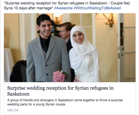 20151207 Surprise wedding reception for Syrian refugees - Without waiting to be asked