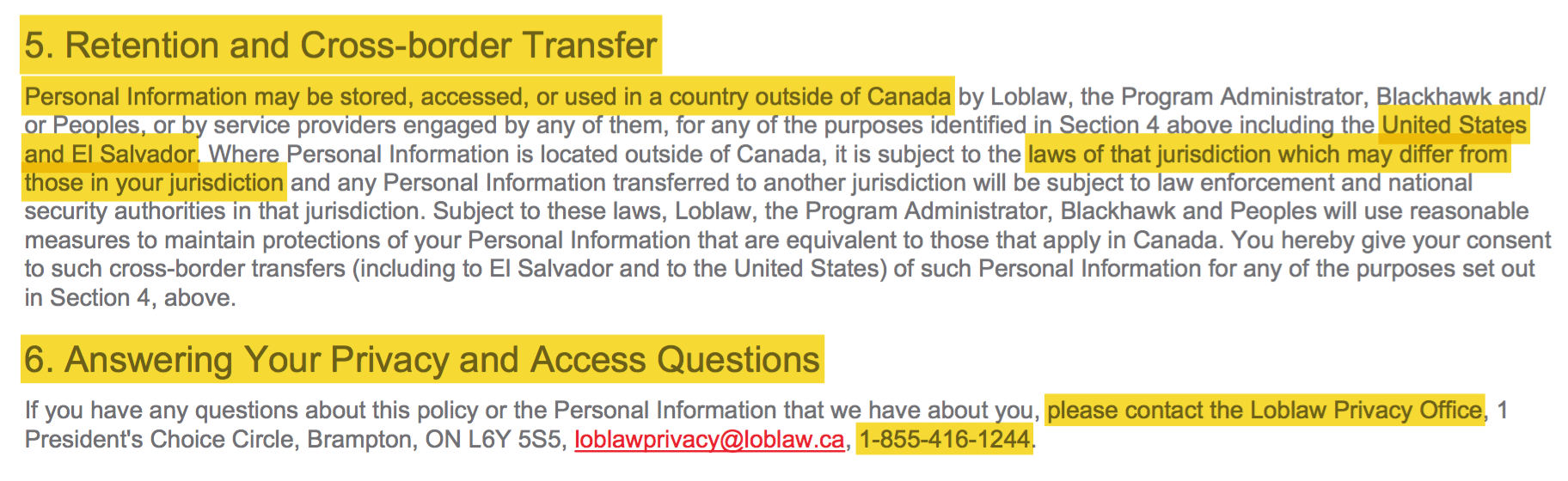 20180109 Loblaws price-fixing - program_privacy_policy - Screen Shot