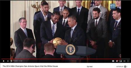 2014 The Kawhi Leonard Obama WH moment