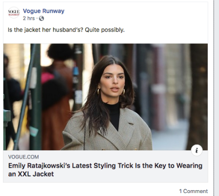 Emily Ratajkowski's Latest Styling Trick Is the Key to Wearing an XXL Jacket - Screen Shot 2019-11-27 at 10.42.11 AM