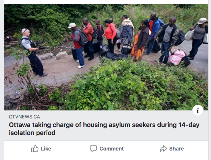 20200319 - Ottawa taking charge of housing asylum seekers during 14-day isolation period